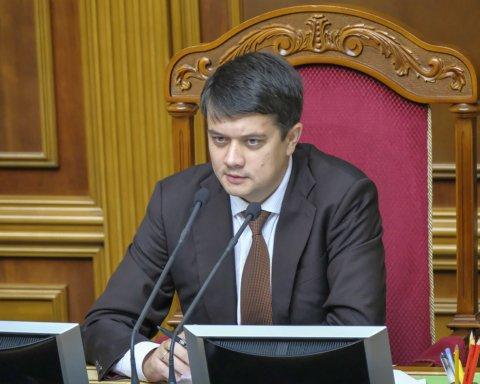 Разумков вважає, що санкції РНБО не відповідають українському законодавству