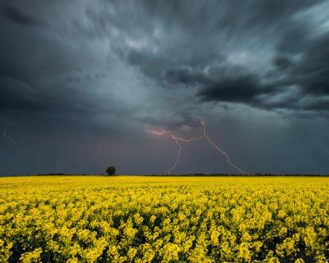 Грозы, град и шквалы: где в Украине испортится погода