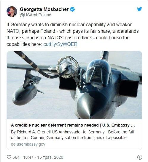США планируют разместить ядерное оружие рядом с Украиной: что известно
