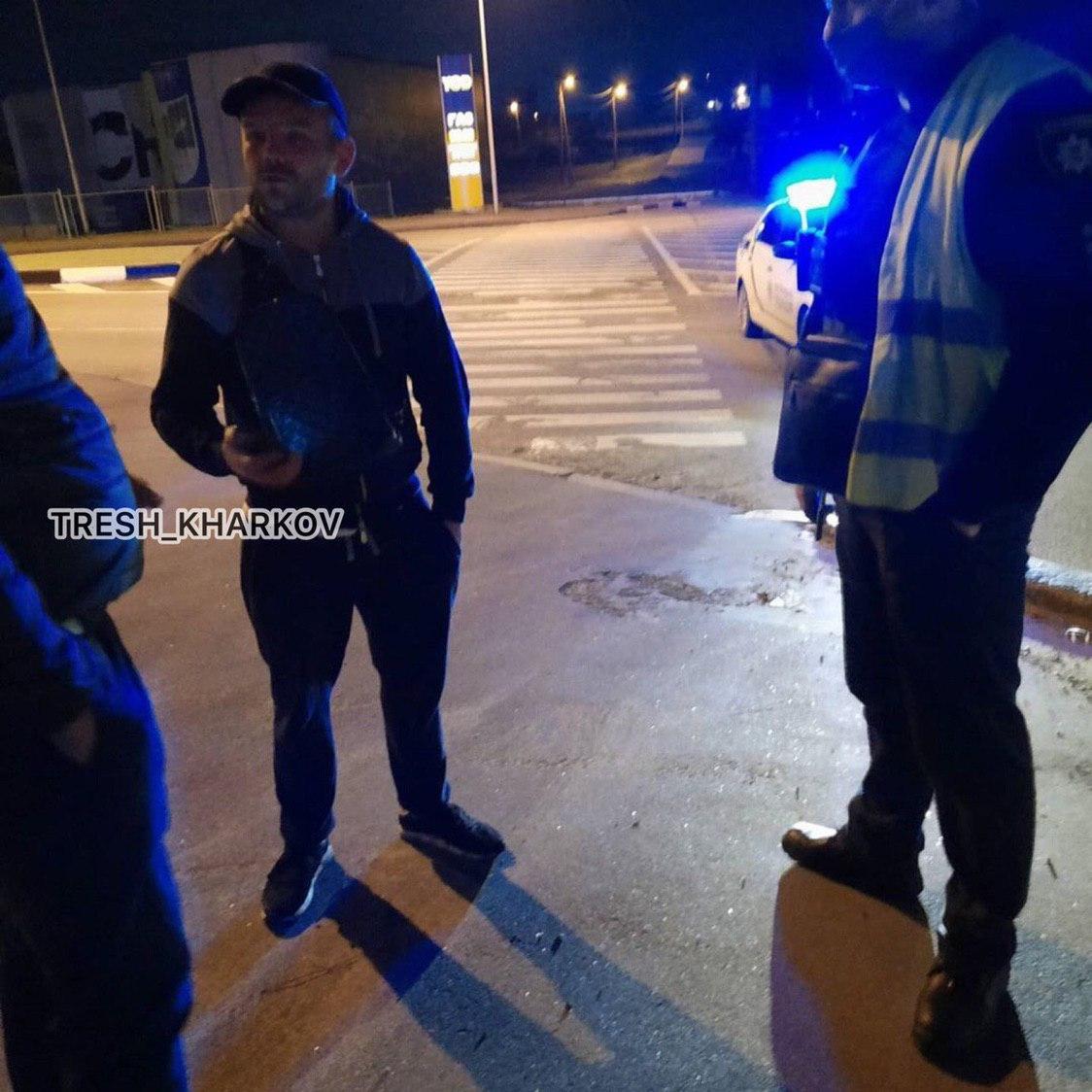 У Харкові п'яний водій влаштував гонитву з копами і збив поліцейського