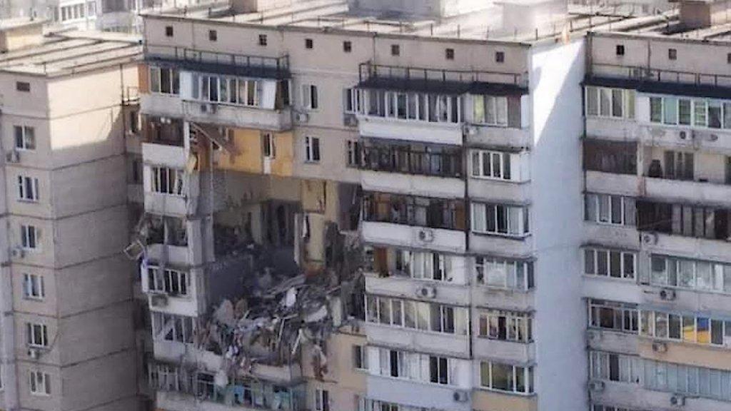 Перші секунди після вибуху на Позняках потрапили на відео