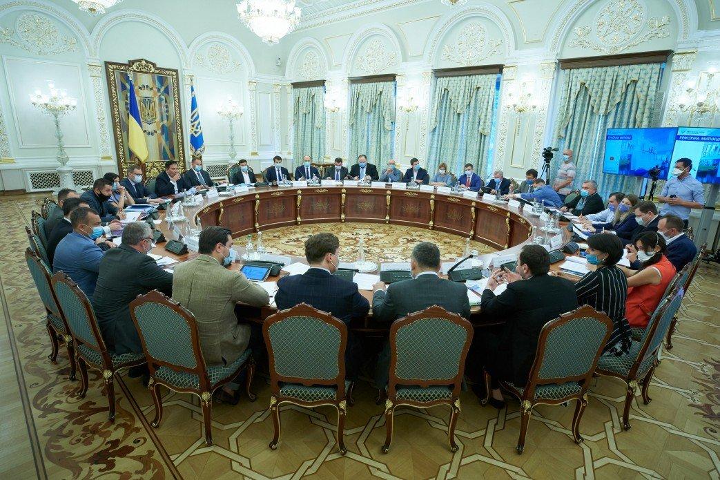 Зеленский провел первое заседание Нацсовета реформ и назвал свою главную цель