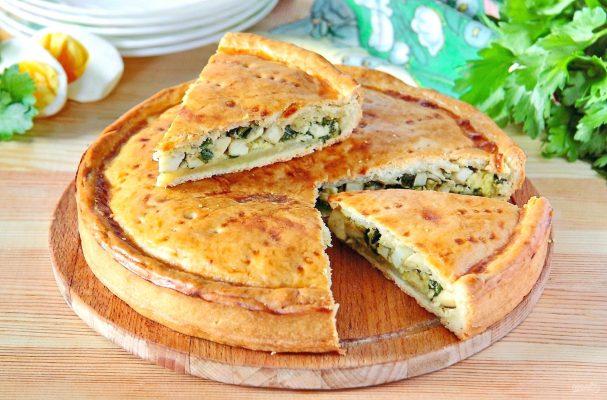 рецепт пирога с сыром и яйцом