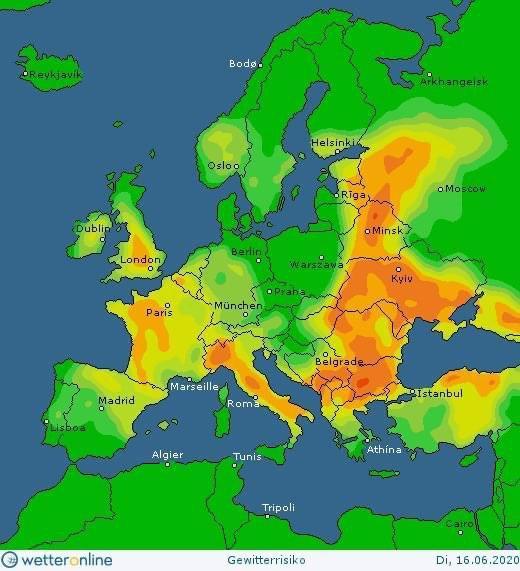 Погода в Украине 16 июня