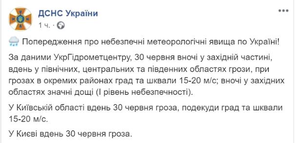 Негода накриє всіх: українців попередили про небезпечні метеорологічні явища
