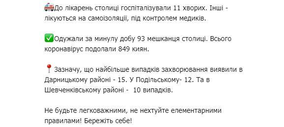 На COVID-19 в Києві захворіли 77 осіб за добу: названо найнебезпечніші райони