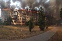 Масштабна пожежа в Каховці: горить ціла п'ятиповерхівка