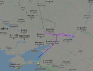 Над окупованим Донбасом помітили пасажирський літак