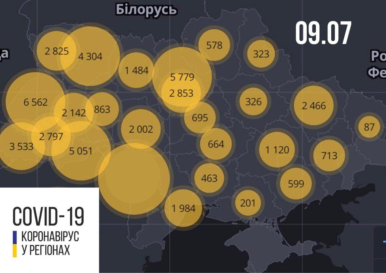 В Україні за добу від COVID-19 померли десятки людей: статистика МОЗ на 9 липня