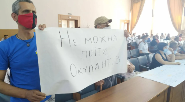 В Херсоне выступили против подачи воды в оккупированный Крым