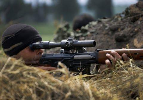 Россия более активно начала применять снайперов на Донбассе