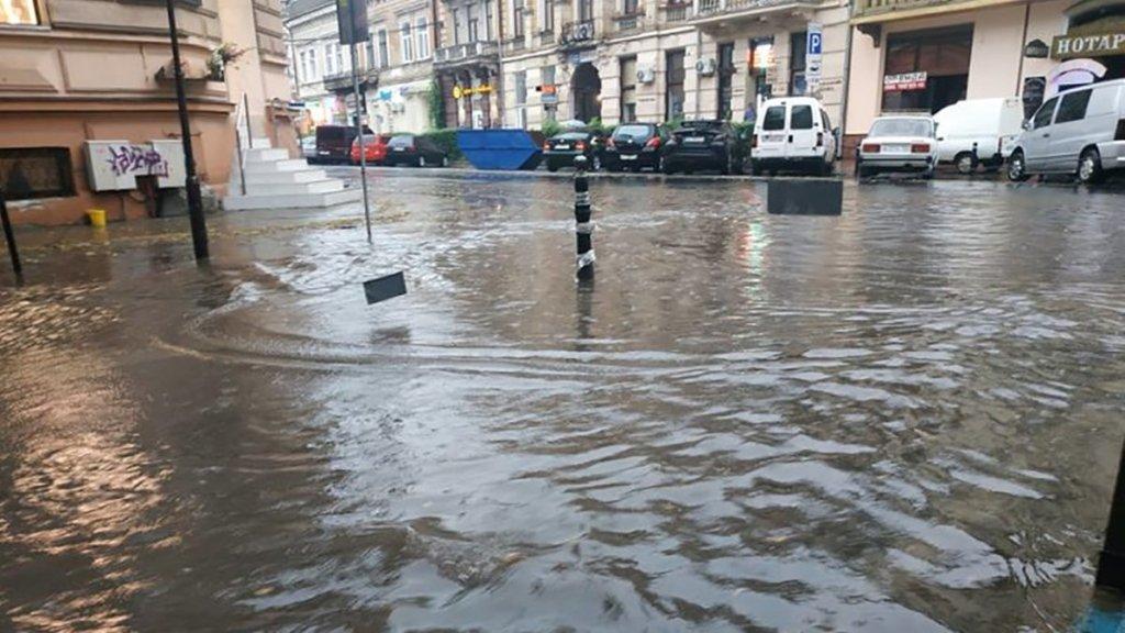 В Івано-Франківську злива затопила місто і повалив дерева – фото