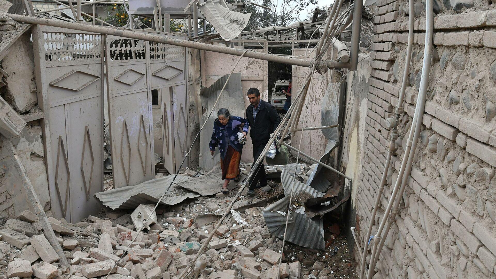 Смертельный обстрел города на границе с Нагорным Карабахом — фото