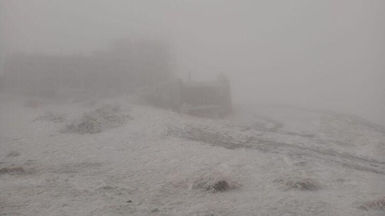 У Карпатах випав перший сніг: фото