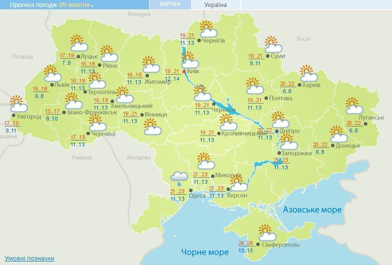 На українців чекає теплий та ясний день: прогноз погоди