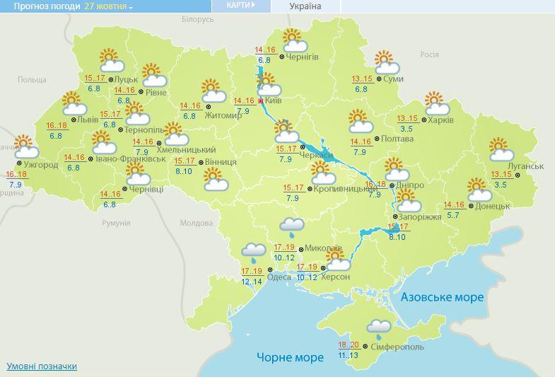 В Украине сегодня тепло и солнечно: прогноз погоды