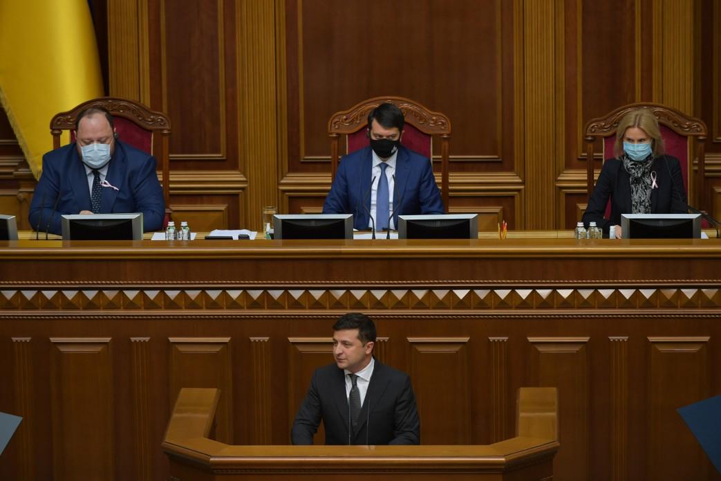 Послання Зеленського до Ради: президент похвалився низьким рівнем смертності від COVID-19