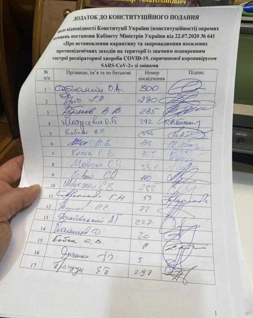 Карантин выходного дня: нардепы пожаловались в КСУ