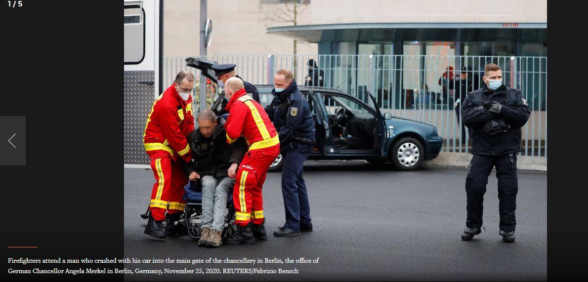 «Чертовы убийцы»: ворота резиденции Меркель протаранил автомобиль