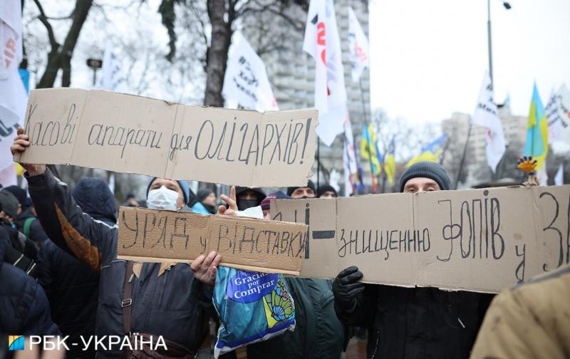 У Києві поліцію та Нацгвардію перевели на посилений режим через масштабний протест ФОПів