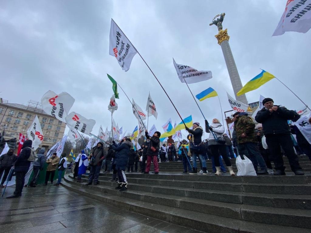Протест ФОПів на Майдані: кількість протестуючих різко зросла