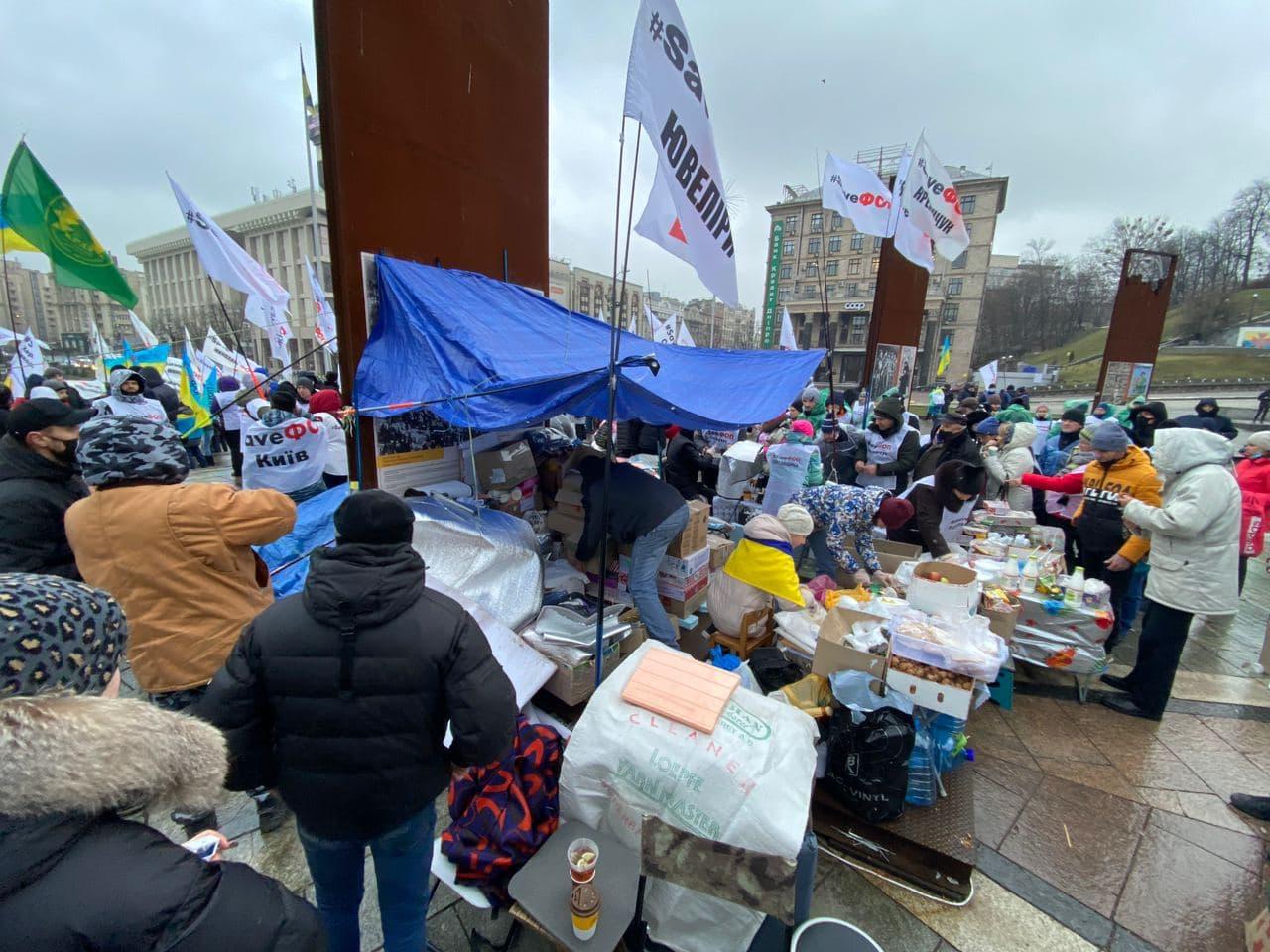 Протест ФОПов на Майдане: количество протестующих резко выросло