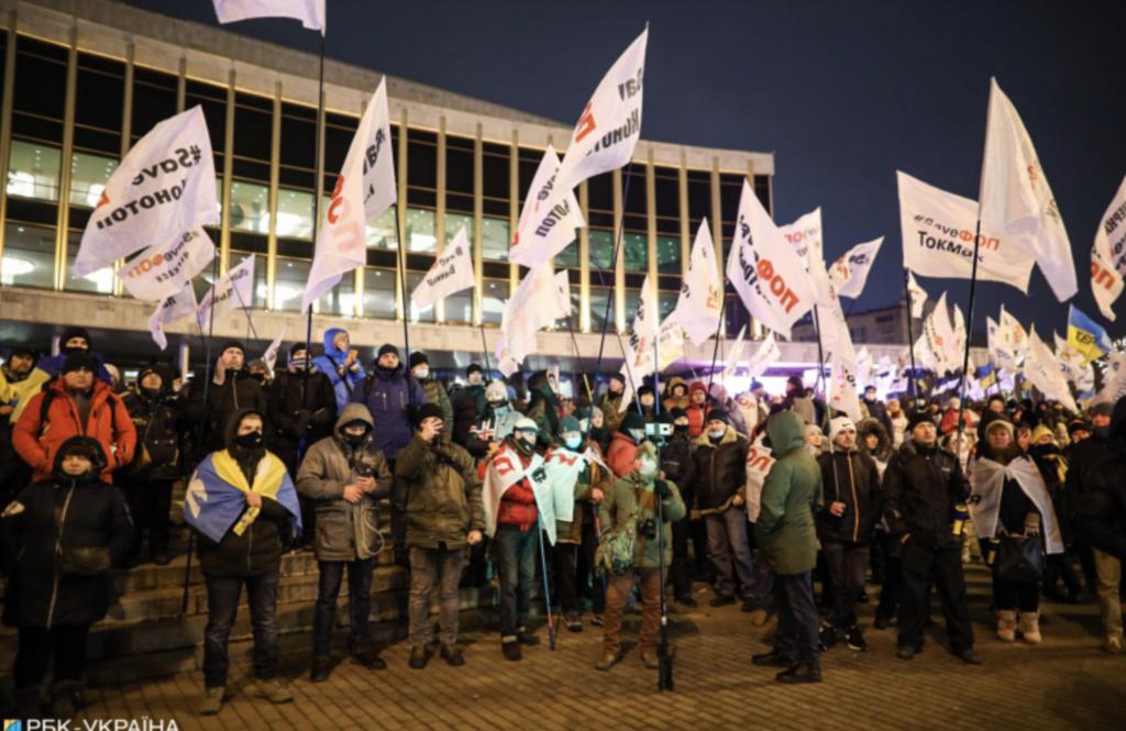 Протест ФОПов продолжается: в центр Киева стянули силовиков — фото