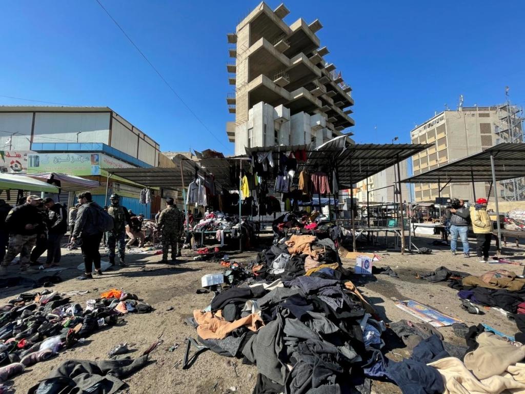 В центре Багдада произошел двойной теракт: десятки погибших