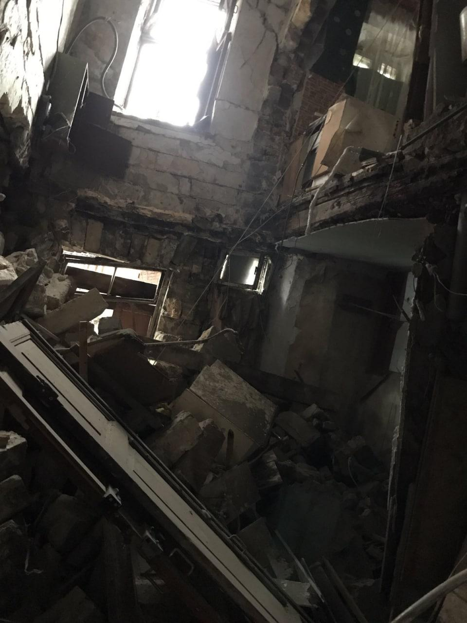 В центре Одессы обрушился аварийный дом, в котором жили люди