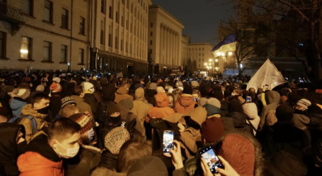 Протести проти вироку Стерненку: що відбувалося в Києві 23 лютого