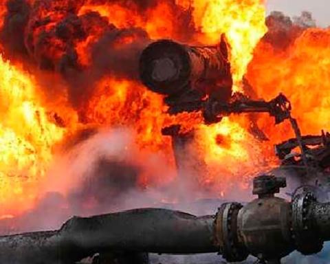 В Луганске прогремел мощный взрыв на газопроводе: видео
