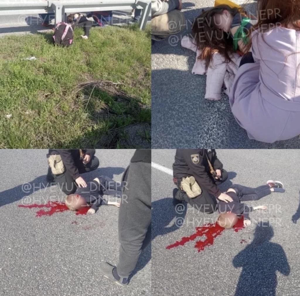 Под Днепром на пешеходном переходе сбили двух детей: фото и видео жесткой аварии
