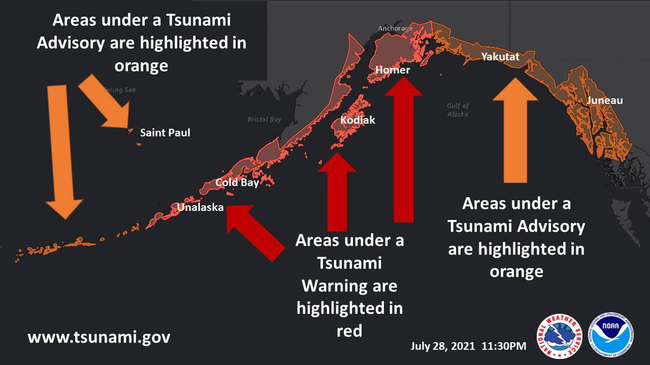 На Алясці стався потужний землетрус: оголошено загрозу цунамі