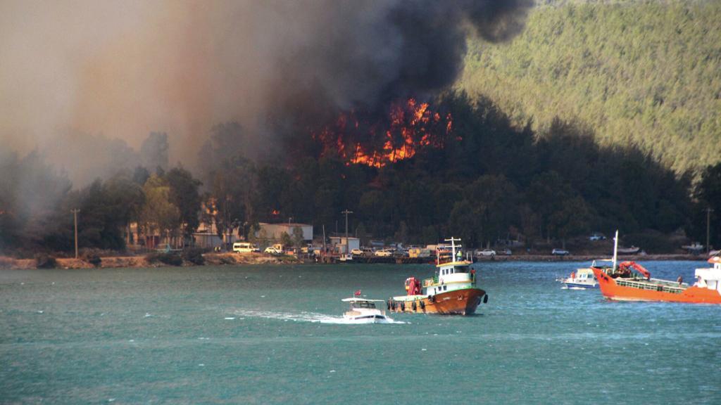 Лесные пожары в Турции почти добрались до курортов: новые кадры жуткой трагедии