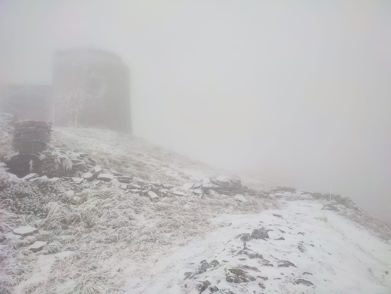 В Карпатах выпал первый снег: фото