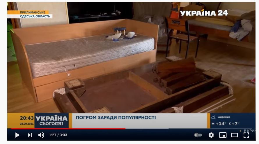 В Одеській області підлітки транслювали в мережі погром орендованого будинку