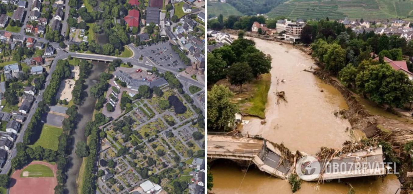 Это лето мы запомним наводнениями: как выглядели пострадавшие города до и после удара стихии