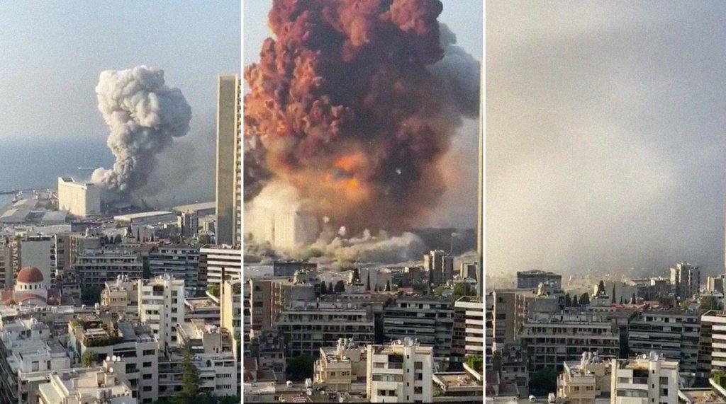 Як виглядає Бейрут після вибуху з космосу: шокуючий знімок