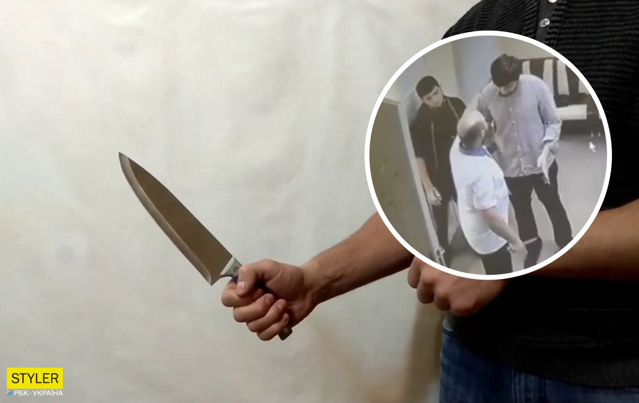Під Одесою чоловік з ножем влаштував дебош в сільській раді: його обеззброїв відвідувач (відео)