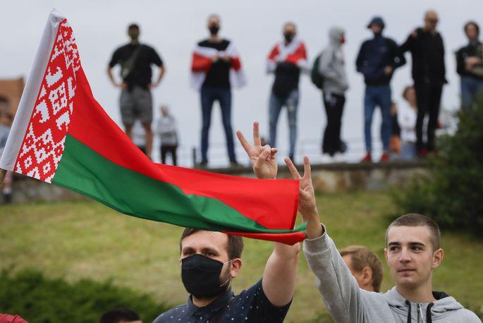 У координатора протестів у Білорусі виявили «візитку Бандери»