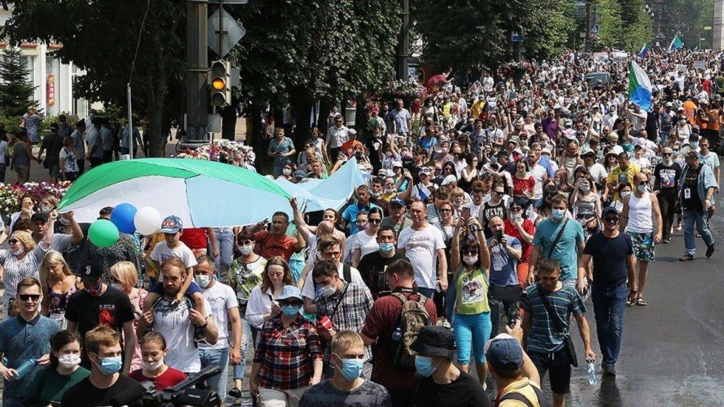 У Росії відбуваються акції солідарності з Хабаровськом