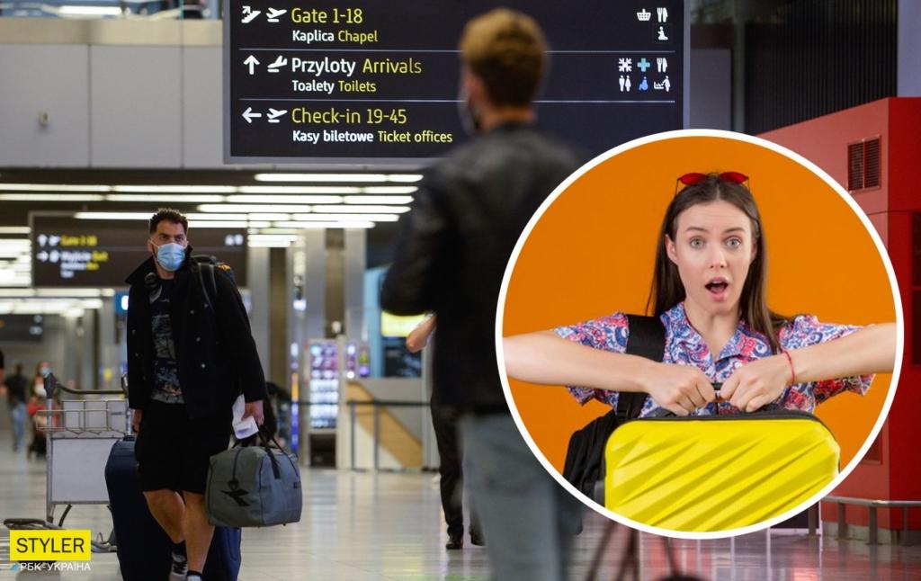 """Украинку в Польше сняли с рейса в Киев и оштрафовали за """"бомбу"""" в чемодане"""