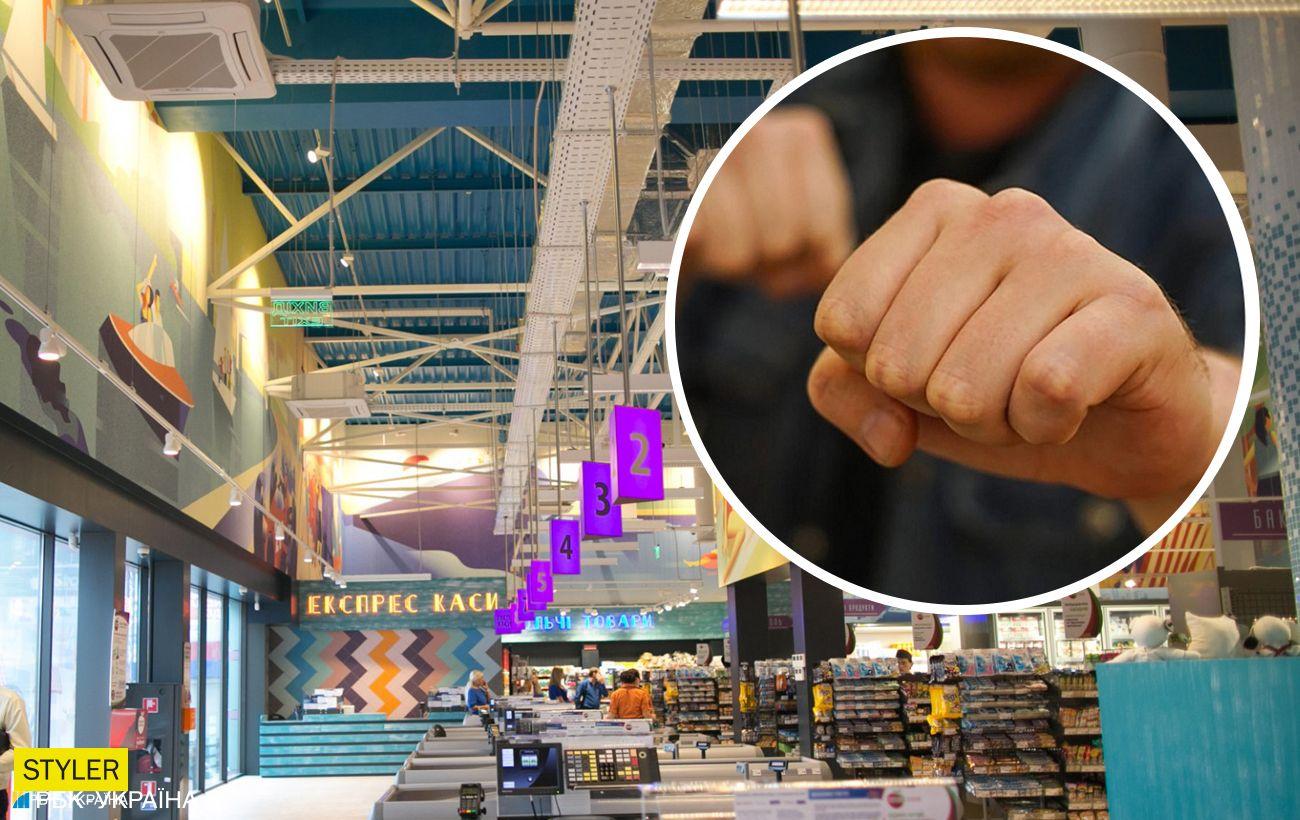 У Києві в супермаркеті покупці влаштували масову бійку: відео інциденту