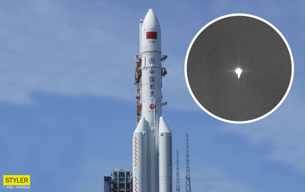 22-тонна китайська ракета впала на Землю: з'явилося відео падіння