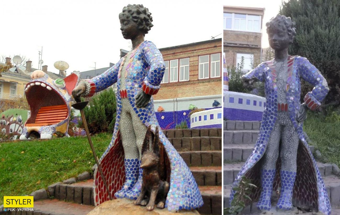 В Киеве вандалы изуродовали популярную скульптуру: оторвали руку с саблей (фото)