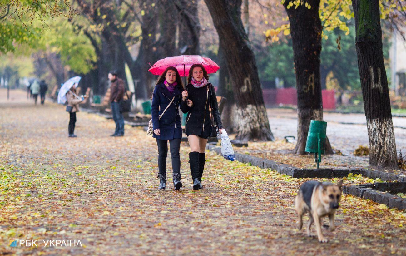 Неділя в Україні буде дощовою та прохолодною: прогноз по регіонам