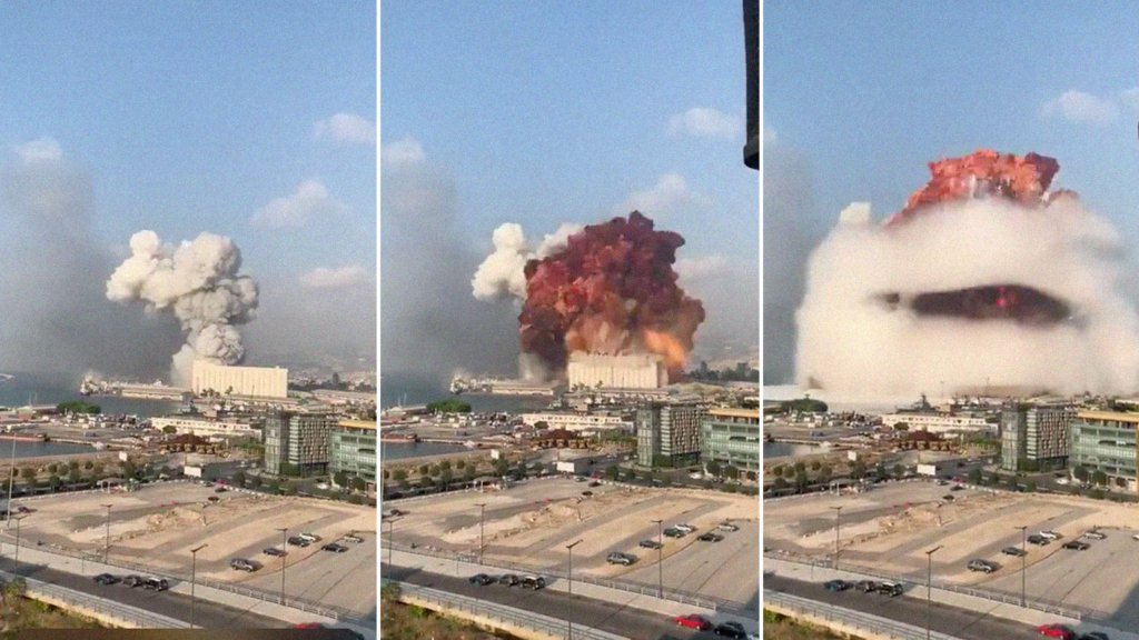 Названа попередня причина вибуху в порту Бейрута
