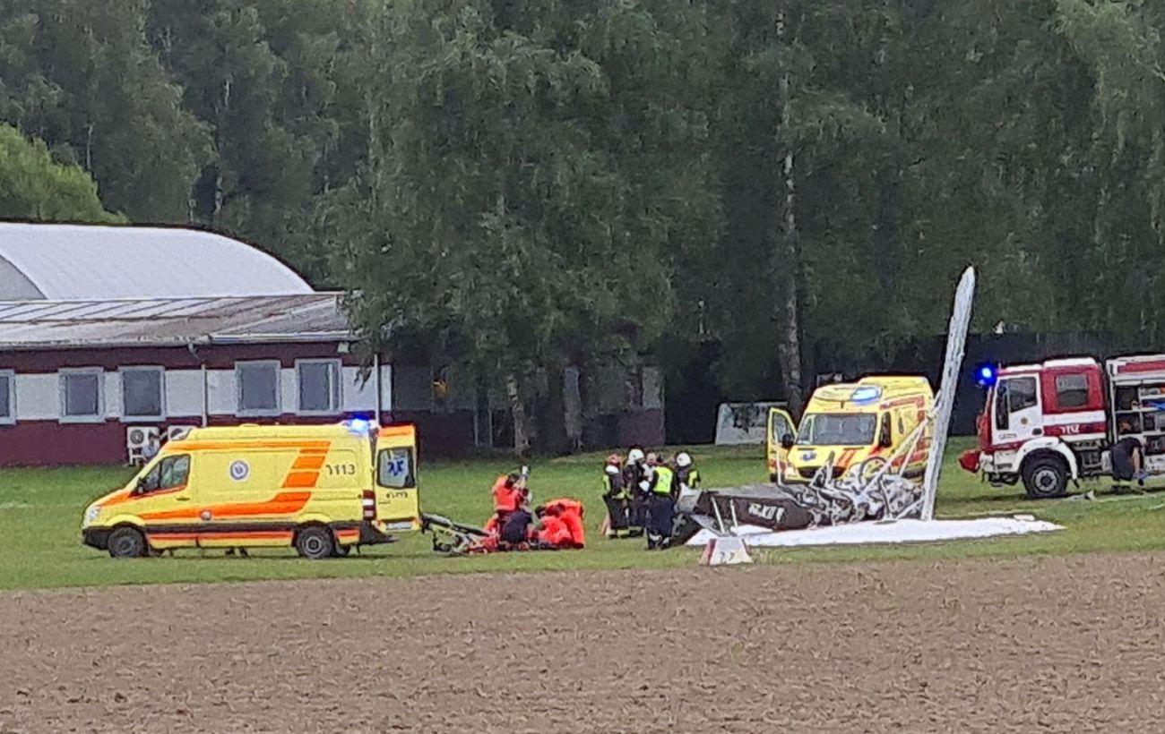В Латвии во время взлета разбился самолет, погиб пилот