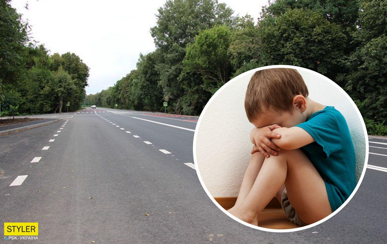 Водій під Вінницею врятував на трасі малюка: втік напівроздягнений від п'яного батька