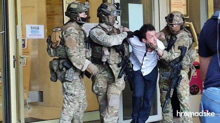 Терорист, який захопив бізнес-центр Києва, затриманий: подробиці — відео